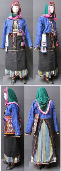 Traditional festive costume from the Turkish villages in the northern part of the Burgaz province (Bulgaria), 1925-1975.  Purchased in Bursa in april 1990.  (Kavak Costume Collection - Antwerpen/Belgium).