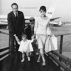 Audrey Hepburn with Mel Ferrer & son