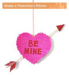 A DIY piñata valentine, sure to be a smashing success...