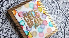 Stamped Distress Ink Background Birthday Card by Kristina Werner #cardmaking