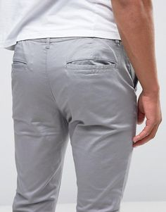 Browse online for the newest ASOS DESIGN skinny chinos in light gray styles. Shop easier with ASOS' multiple payments and return options (Ts&Cs apply). Asos, Skinny Chinos, China, Gray Pants, Grey Fashion, Collection, Design, Porcelain