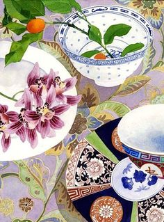 Orchid still life: Gabby Malpas watercolour C6 greeting card and envelope