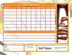 Music Practice Charts | Kid Pointz