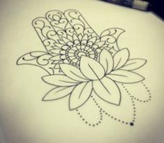 Lotus with Hamsa blooming