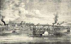 St. Louis river front, mid 1800s