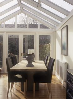 Modern Conservatory Dining Room