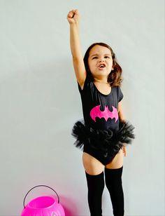 Bat Girl Tutu Bodysuit Superhero Costume Toddler Baby Girl Halloween. $36.00, via Etsy.