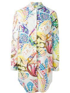 ETRO paisley longline shirt