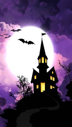 Halloween house wallpaper by Winbackgrounds - 9b - Free on ZEDGE™