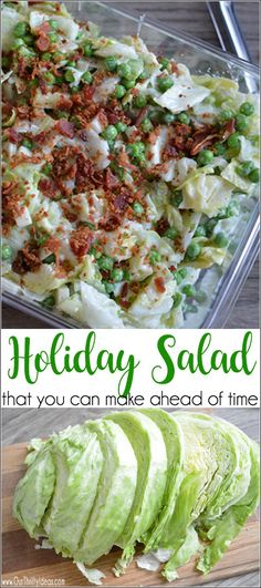 that is meant to be made ahead of time, perfect for the holidays or a dinner party so you aren't rushed putting it together!salad that is meant to be made ahead of time, perfect for the holidays or a dinner party so you aren't rushed putting it together! Clean Eating, Healthy Eating, Sarah Salad Recipe, Make Ahead Salads, Salads For A Crowd, Dinner Party Recipes Make Ahead, Salad Recipes For Parties, Make Ahead Appetizers, Salad Recipes For Dinner