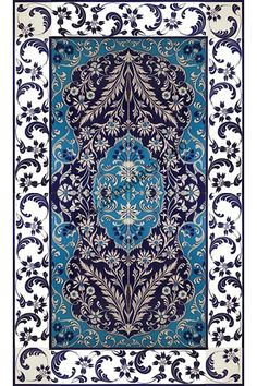 90x150_iznik_cini_desenli_el_dekor_kutahya_cinisi_900 Turkish Art, Turkish Tiles, Tile Murals, Tile Art, Islamic Patterns, Rug Texture, Iranian Art, Prayer Rug, Stone Mosaic