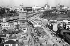 Japan Tokyo Streets The changing face of Tokyo shows itself in this view which includes the gigantic Miyake-Zaka underground highway interchange on April 13, 1964. It is one of many construction jobs through which Tokyo is preparing for the Olympics opening next October and for its future growth. Roads and subways being built are behind the needs. (AP Photo/Koichiro Morita)