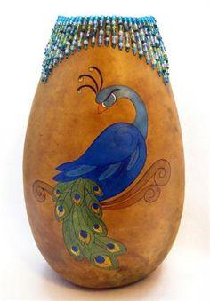 Majestic Peacock Gourd by Gloria Crane
