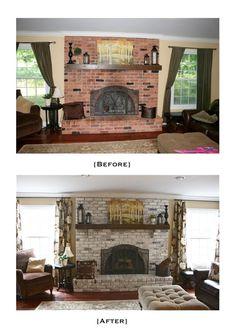 FOR MOM: DIY - White Washing Brick Tutorial using Latex Paint (Sherwin Williams Cashmere Paint~Medium Lustre~Luminous White)