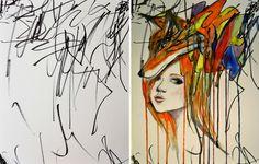 Äiti muuttaa 2-vuotiaan tyttärensä piirustukset upeiksi taideteoksiksi | Vivas