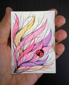 Original ACEO colorpencil illustration  2.5 x 3.5 by Kalatirth, $10.00