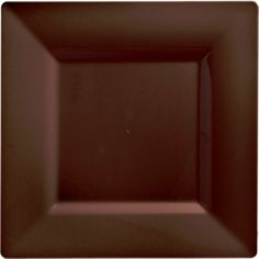 Chocolate Brown Premium Plastic Square Dinner Plates 10ct - Party City