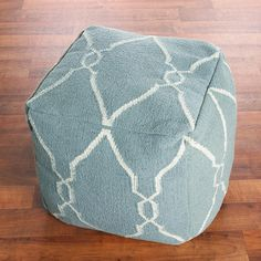 Soho Dhurrie Cube Pouf Ottoman 6 colors!  i love this website!!!!!!