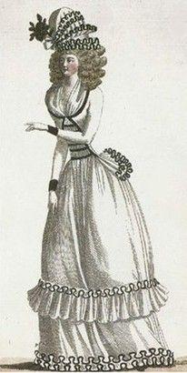 1790. Pierrot jacket, journal de la mode et du gout.