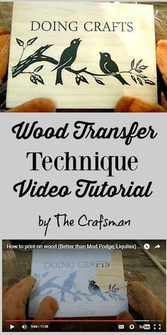 How to Transfer Photos to Wood - Reader Tutorial - Graphics Fairy. Such a great technique for DIY Home Decor projects!