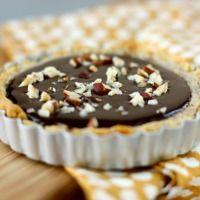hazelnut frangipane and nutella-dark chocolate ganache tart and another giveaway « daisy's world
