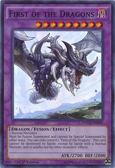 Yu-Gi-Oh! - First of the Dragons (NECH-EN050) - The New Challengers - 1st Edition - Super Rare Yu-Gi-Oh! http://www.amazon.com/dp/B00P8D37JA/ref=cm_sw_r_pi_dp_tokBwb08JPPQ3