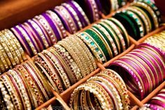 lots of indian bangles!