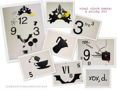 close ups diy cuckoo vinyl wall clock