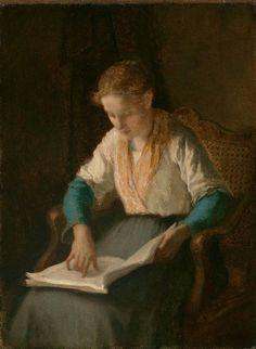 William Morris Hunt  Girl Reading  1853