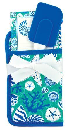 3 Piece Coastal Kitchen Potholder Gift Set