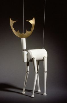 "Sophie Taeuber-Arp; Lacquered Wood 'Stag' Marionette for Production of ""King Stag"", 1918."