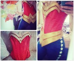 #wonderwoman costume made with craft foam. Almost finished!  | Katie Huff
