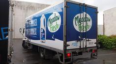 Vehicle wrap Truck branding with a dull digital print Building Signs, Car Wrap, Signage, Digital Prints, Truck, Branding, Vehicles, Construction Signs, Fingerprints