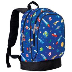 Wildkin Kids 15 Inch Backpack for Boys and Girls, Perfect Size for Preschool, Kindergarten, and Elementary School, Patterns Coordinate with Our Lunch Boxes and Duffel Bags Boys Backpacks, Designer Backpacks, Out Of This World, Prada Handbags, Duffel Bag, Luggage Bags, Fashion Backpack, Pencil Holder, Shoulder Straps