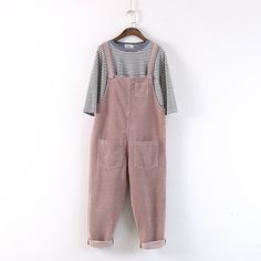 Cheap clothing football, Buy Quality clothing embroidery directly from China clothing paint Suppliers: Mori Girl Preppy Style Corduroy Overalls Loose Plus Size Casual Pants Brandy Women Tricot Clothing College Corduroy Clot