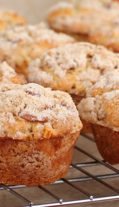 Apple Strudel Muffins Recipe - made these this afternoon, I made my own twist, I added cinnamon inside muffin & about 8oz of homemade apple sauce as well