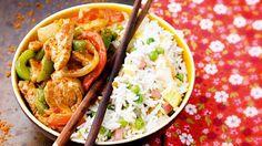 Wok de porc au soja pimenté