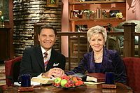 Kenneth Copeland and Gloria on The Believer's Voice of Victory - Since April 13, 1963, Kenneth has been married to his wife, Gloria Neece.They are the parents of: John Copeland, Kellie Copeland Swisher, and Terri Copeland Pearsons. Gloria and the Copeland children work for KCM. John is the ministry's chief operating officer. Kellie preaches at various meetings throughout the US, as does Terri, who also preaches at Eagle Mountain International Church, pastored by her husband, George Pearsons.