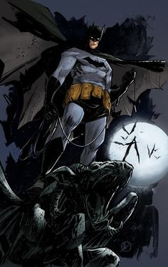 Batman artwork by Matteo Scalera and Christian Sabarre (2012)