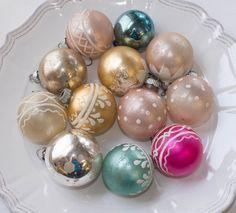 Shiny Brite Christmas Ornaments Vintage by FleurStreetVintage, $49.00