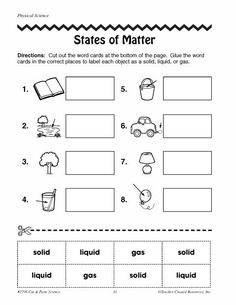 free printable phases of matter worksheets   Click here ...