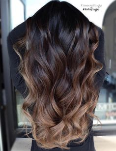 60 Hairstyles Featuring Dark Brown Hair with Highlights #ombrehighlights
