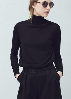 Stand-collar sweater - Cardigans and sweaters for Women | MANGO USA