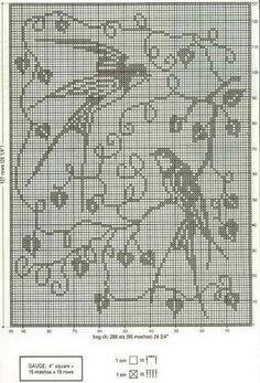 This Pin was discovered by Nur Just Cross Stitch, Cross Stitch Charts, Cross Stitch Embroidery, Cross Stitch Patterns, Crochet Thread Patterns, Crochet Designs, Crochet Curtains, Crochet Cushions, Crochet Birds