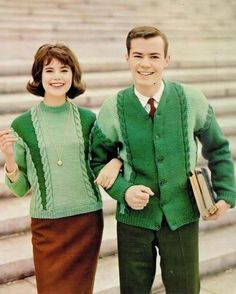 oh look dorky couple fashion 1960's