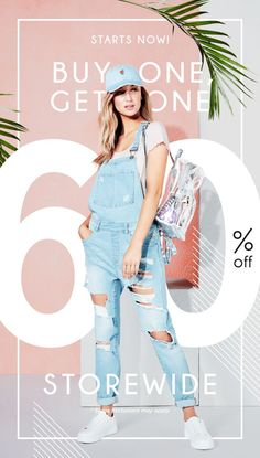 Starts Now - Buy One Get One 60% Off Store Wide. Shop Now!