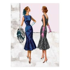 Shop McCall's Postcard created by Zazzlemm_Cards. Personalize it with photos & text or purchase as is! Mccalls Patterns, Dress Sewing Patterns, Vintage Sewing Patterns, Pattern Dress, Sewing Ideas, Retro Fashion, Vintage Fashion, Figure Flattering Dresses, Vintage Tableware