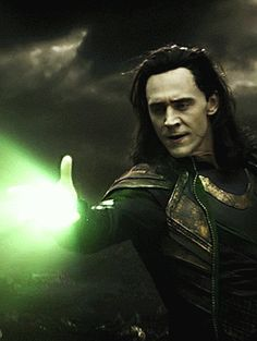 Loki's magic includes deadly energy or light beams, which he can throw like his knives!