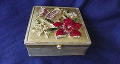 1960s  Mirrored Jewelry Box Trinket or Vanity Box by NostalgicRose, $20.00