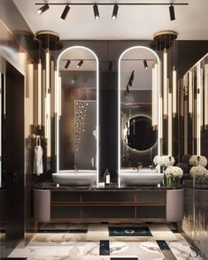 Luxury Apartments in Moscow Washroom Design, Toilet Design, Bathroom Design Luxury, Best Interior Design, Luxury Interior, Luxury Toilet, Luxury Modern Homes, Modern Mansion, Modern House Facades